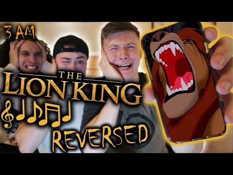 *CREEPY* DO NOT PLAY THE LION KING SOUNDTRACK IN REVERSE AT 3 AM!