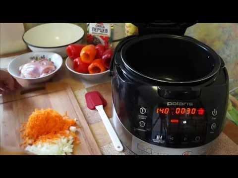 Домашние видео рецепты -  фаршированные перцы с куриным мясом в мультиварке