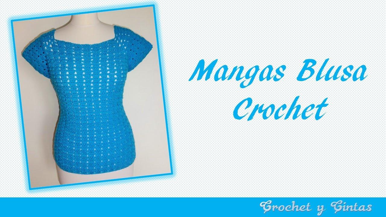 Mangas blusa agua marina a crochet - YouTube