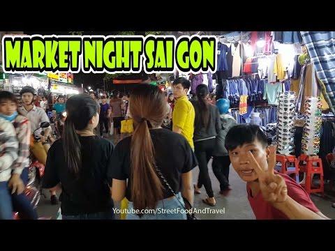 Vietnam Travel - Hanh Thong Tay Night Market in Ho Chi Minh City