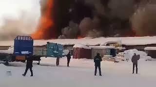 Пожар в гаражном боксе в Усть-Куте