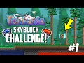 Terraria 1.3 SKYBLOCK CHALLENGE! | Custom Modded Map Challenge! | GETTING STARTED GUIDE!