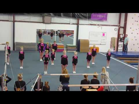 Xpress cheer Allstars family day younger group