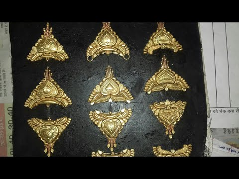 Making of antique  gold jewellery ,Mangalsutra, India
