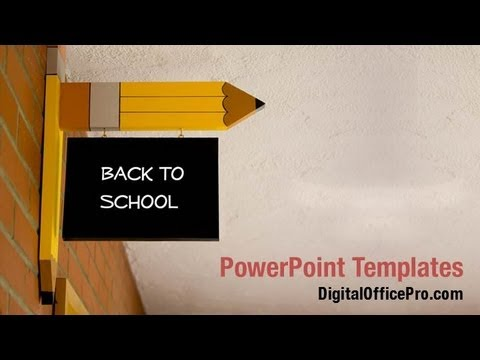 back to school sign powerpoint template backgrounds digitalofficepro 02867w