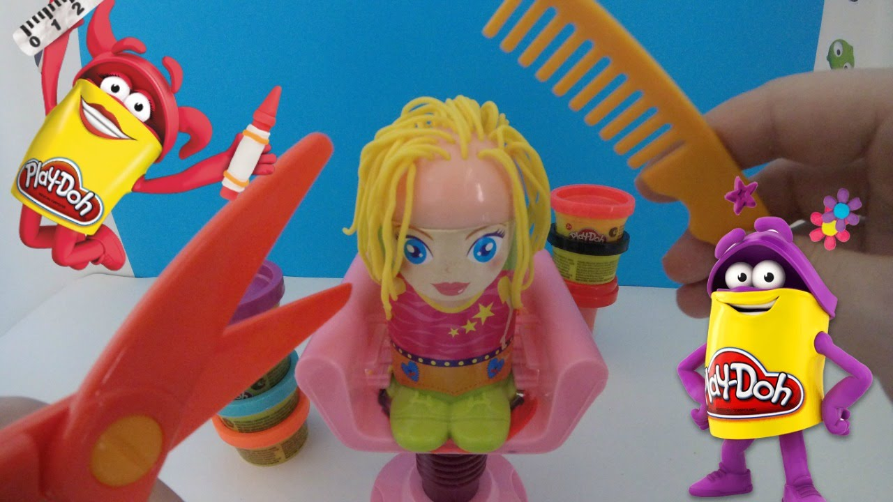 jouet p 226 te 224 modeler play doh le coiffeur hair dresser modelling play doh set toys play