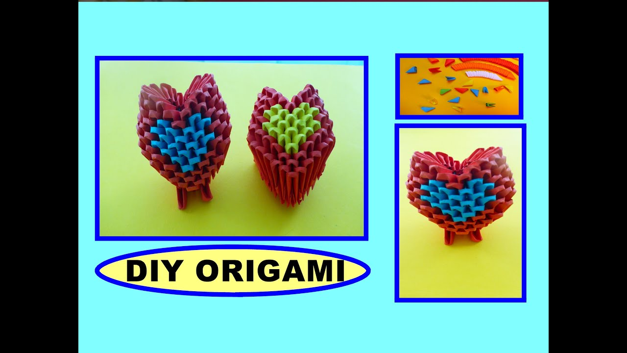 Papercraft DIY ORIGAMI HEART, EASY GIFT GUIDE FOR FRIENDS & FAMILY, SIMPLE IDEAS, HERZ, EINFACHE GESCHENKIDEEN
