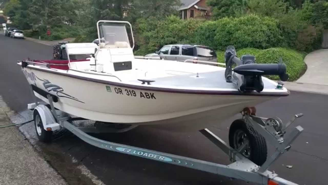 Boat center console 135hp for sale 19 foot oregon diving for Center console fishing boats for sale