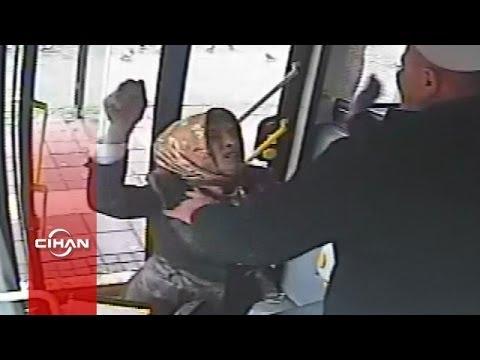 Otobüs şoförü ile kadın sürücünün...
