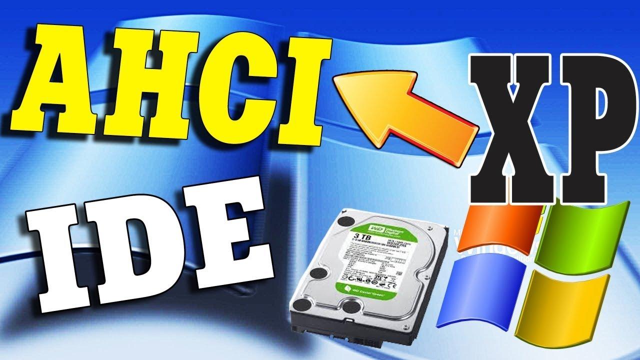 Интеграция SATA AHCI драйверов в Windows XP
