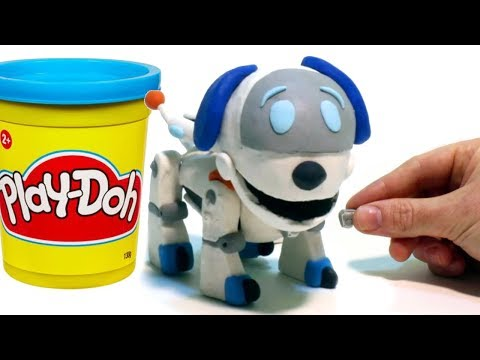 Paw Patrol Robo Dog - Superhero Play Doh Cartoons & Stop Motion Movies for kids thumbnail