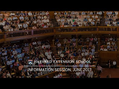 Harvard Extension School Information Session 2017–2018
