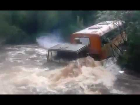 Truk Trying to Cross the River