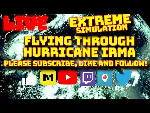 PART 2 - EXTREME WEATHER! END OF TIMES! FLYING THROUGH HURRICANE IRMA, JOSE AND KATIA | X-PLANE 11 |