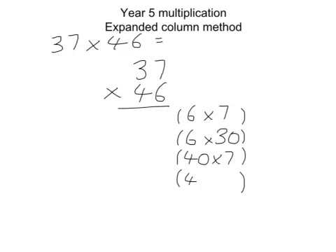 Year 5 Multiplication Expanded Column Method Youtube