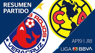 Resumen y Goles | Veracruz vs América | Liga BBVA MX - Apertura 2019  - Jornada 18