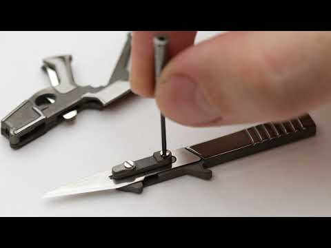 3COIL Design Puna and Crane Knife - smallest folding scalpel in the world
