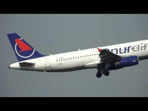 Onur Air  Airbus A320-232 takeoff from Cork