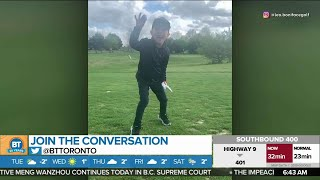 This Kid Goes Viral for His Awesome Golf Trick Shots!