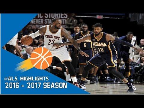 a94b823eddd9 LeBron James vs Paul George SUPERSTARS Duel 2017.04.02 - PG had 43-9-9