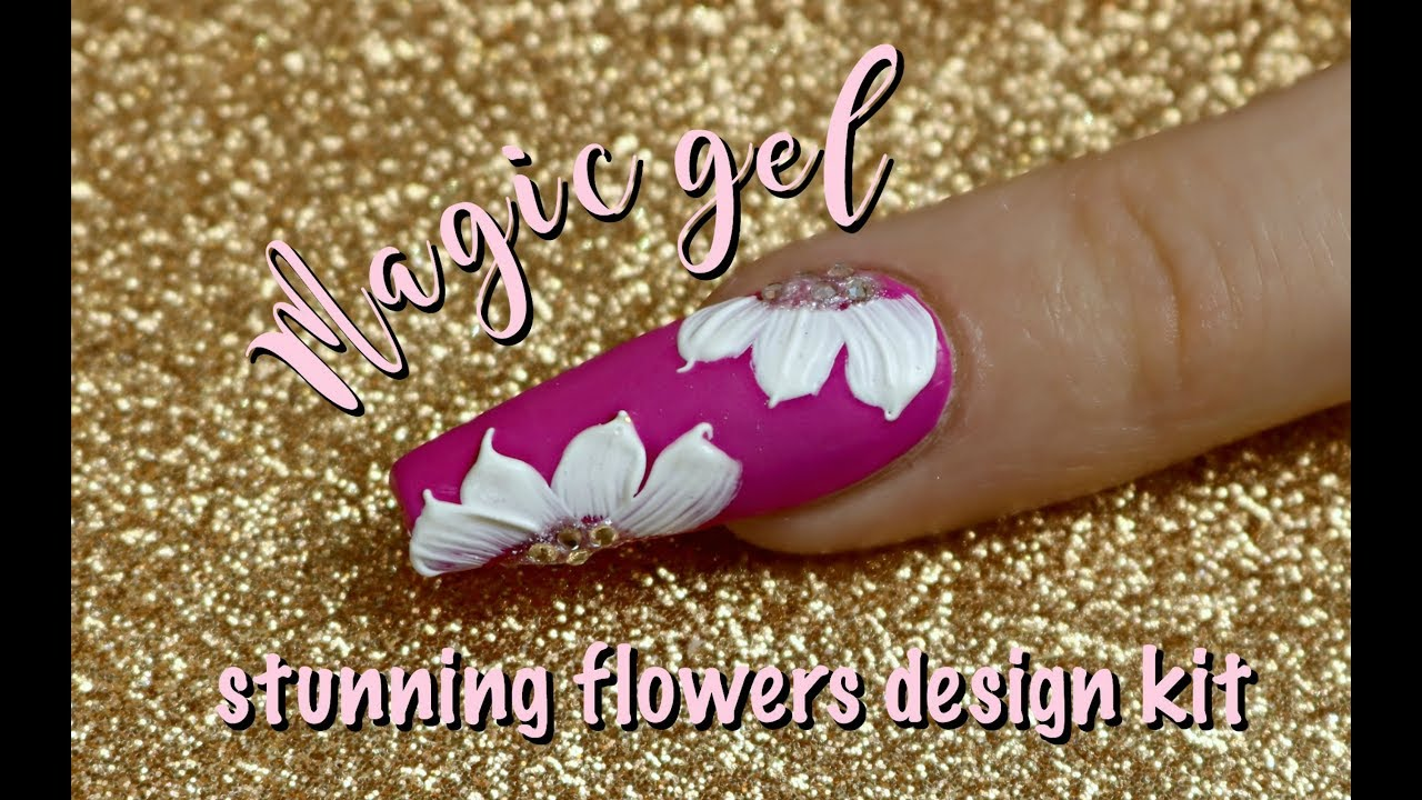 MAGIC GEL | Stunning flower design kit | NAIL TUTORIAL - YouTube