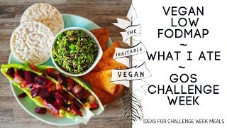 What I Ate / Low FODMAP GOS Challenge Week / Ideas for your Challenge Meals / The Irritable Vegan