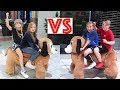 Boys VS Girls Best Friends Movie and Mall Fun Battle!