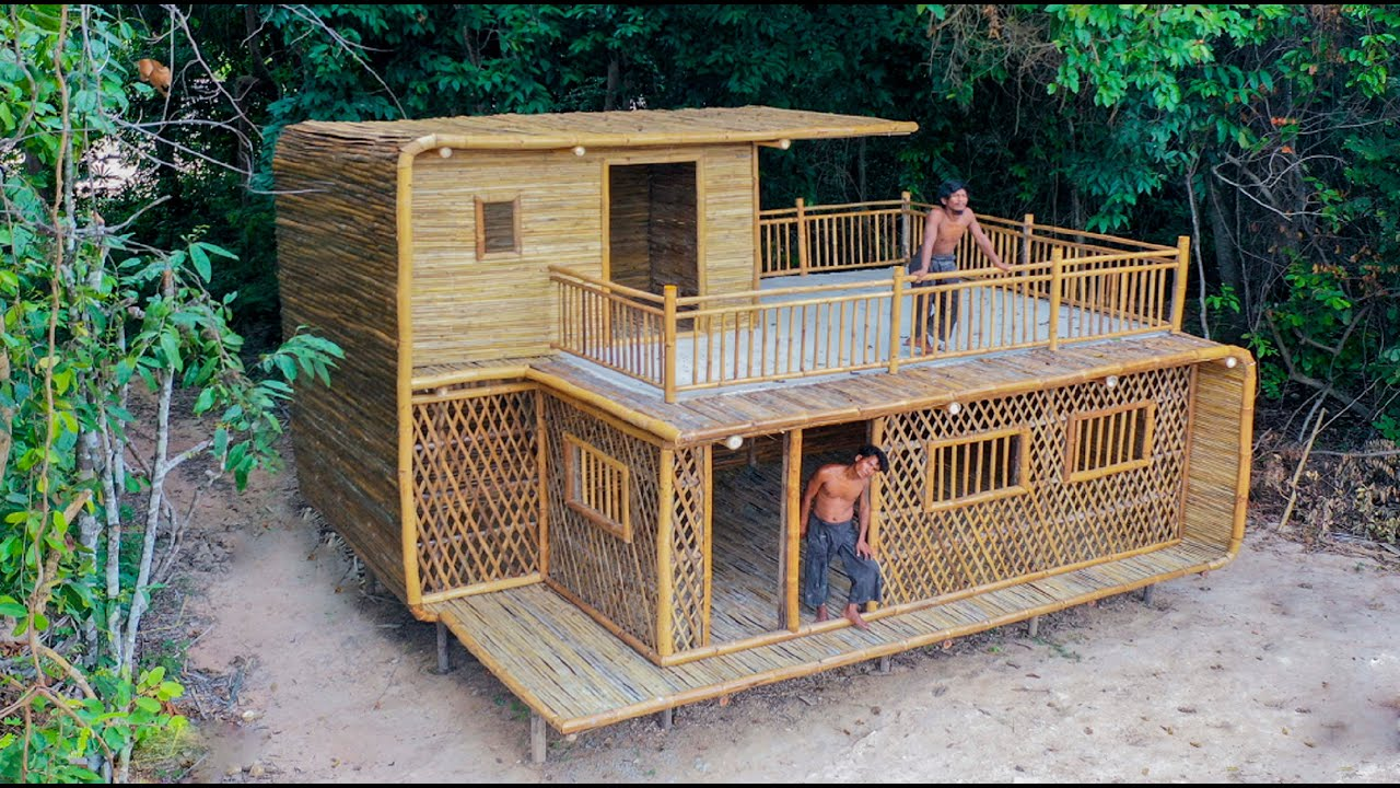 Building Tow Story Jungle Villa With Décor Private Living Room