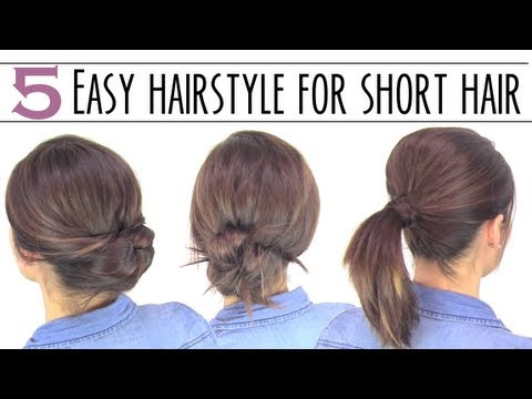 Easy hairsyles for short hair - YouTube