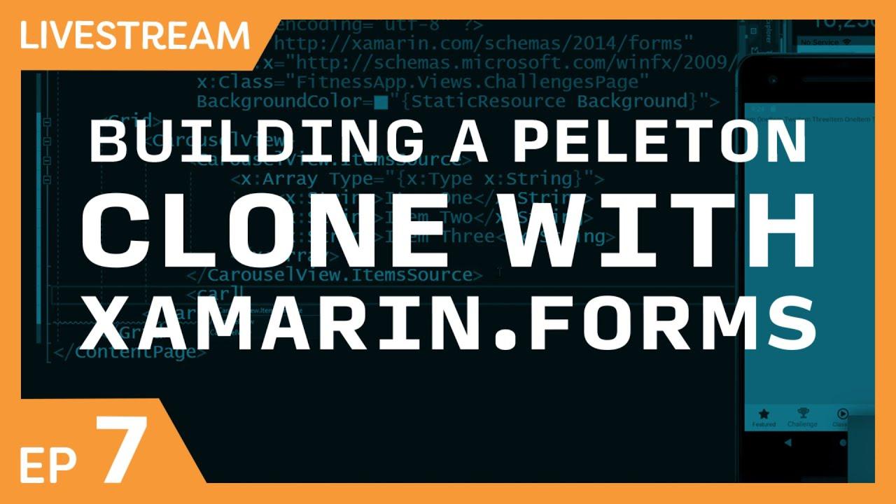 Easily Create a Peloton Clone with Xamarin.Forms Part 7 - Profile & Calendar Views