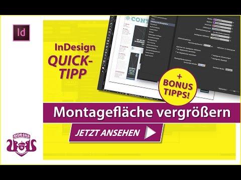 Montagefläche vergrössern // InDesign QUICK-TIPP