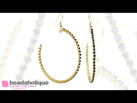 How to Wire Wrap Cup Chain onto Flat Memory Wire to Make a Pair of Earrings