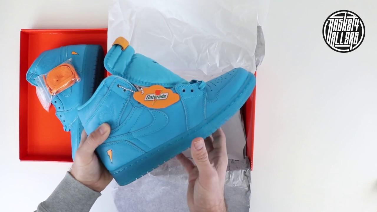 e0bc5d8c831c83 Unboxing et Découverte   Air Jordan 1 (Gatorade) Blue Lagoon - YouTube