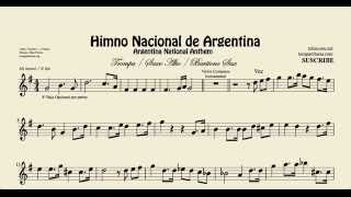 Argentine National Anthem Sheet Music for Alto Sax Horn and Baritone Sax
