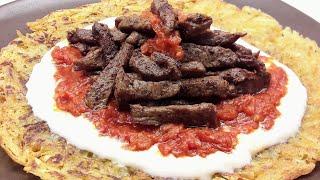 Çökertme kebabını birde böyle deneyin / Pratik patates tavasıyla kolay kebap tarifi / Ev Lezzetleri