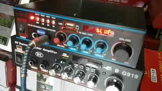 Amply mini  karaoke bluetooth 12v 220v giá rẻ fara av333 520k lh 0964.867.866