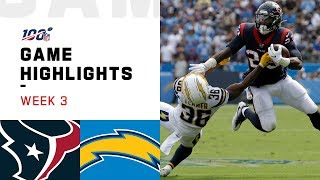 Texans vs. Chargers Week 3 Highlights | NFL 2019