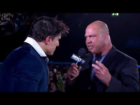 Kurt Angle is inducted into the TNA Hall Of Fame (February 27, 2014)