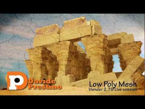 Realizzazione di Assets Low Poly  con Blender