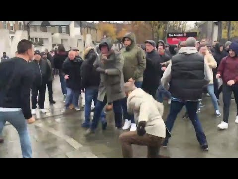 Arsenal vs Tottenham hooligans trouble