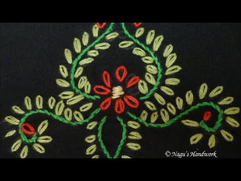 Stem Stitch Hand Embroidery Tutorial By Nagus Handwork Youtube