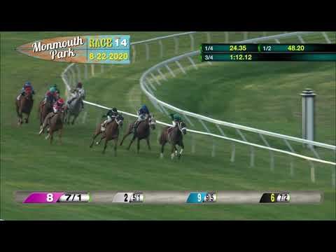 video thumbnail for MONMOUTH PARK 08-22-20 RACE 14