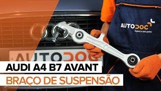 Como substituir um braço inferior frontal de uma suspensão dianteira noAUDI A4 B7 AVANT