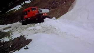 Tucker Sno-Cat Plowing Through A Colorado Avalanche