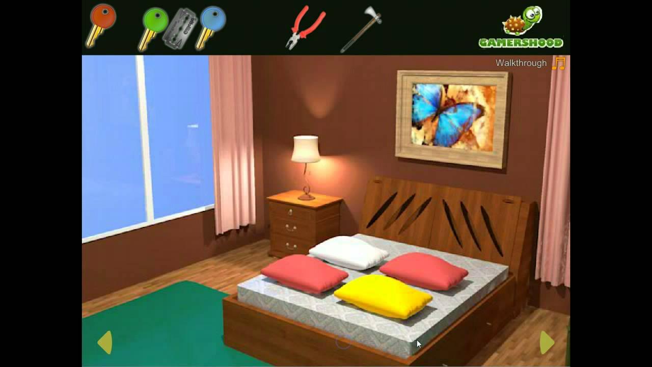 Brown Bedroom Escape Walkthrough - YouTube
