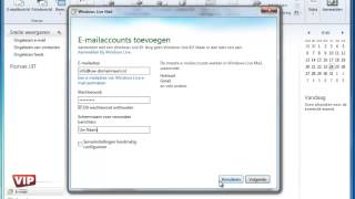 Windows Live Mail e-mail instellen
