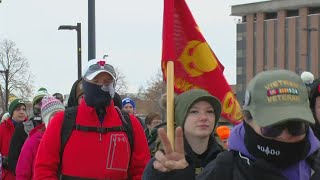 Green Bay march brings awareness to veteran suicide