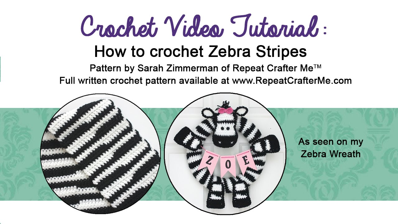 How To Crochet Zebra Stripes Youtube