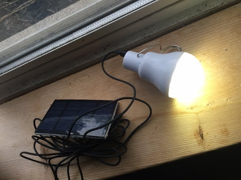 Solar LED Light Bulb Test : 7 hours of Light.