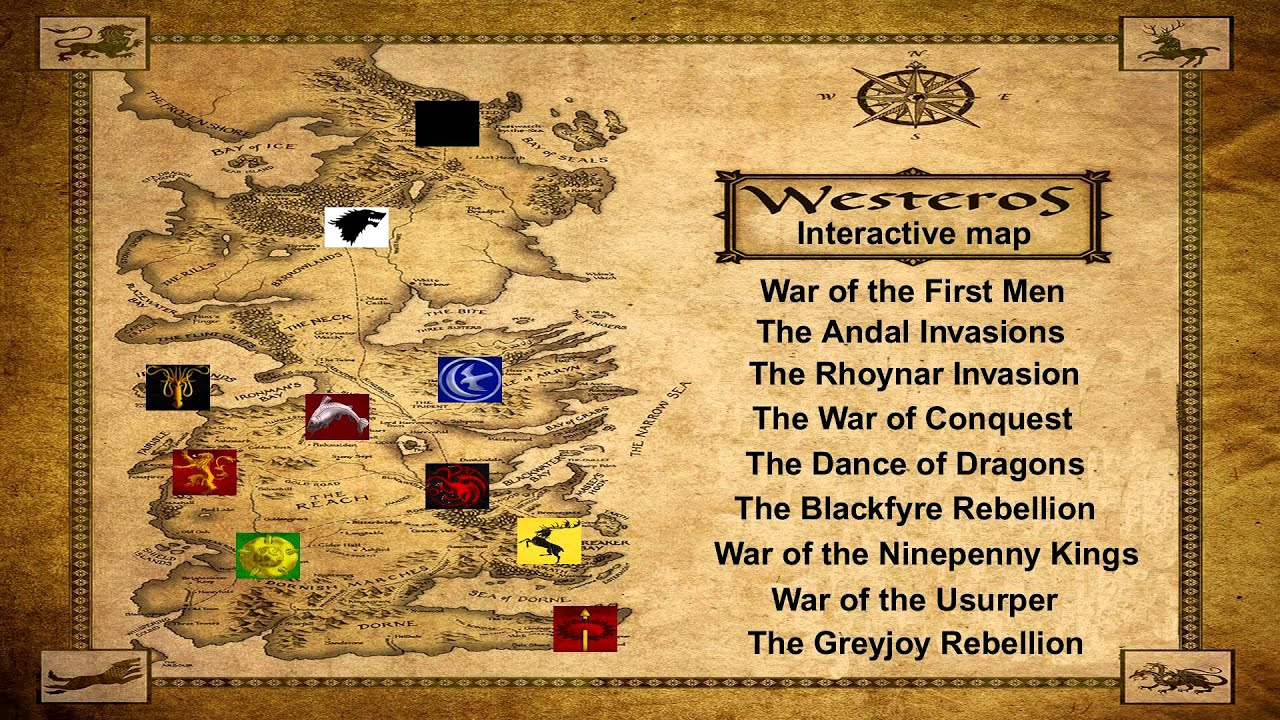 Westeros Lore: Interactive Map - YouTube